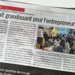 La première édition du Défi FP, organisée au Centre de formation professionnelle Gabriel-Rousseau, s'affiche en première page du Journal de Lévis.