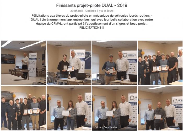 Finissants DUAL 2019 - Centre de formation en mécanique de véhicules lourds