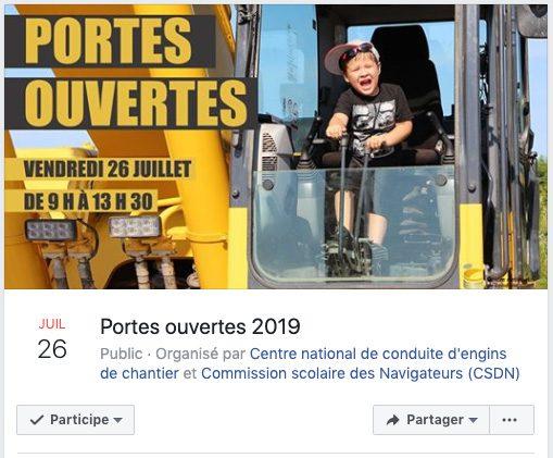 Portes ouvertes 2019 du Centre national de conduite d'engin de chantiers