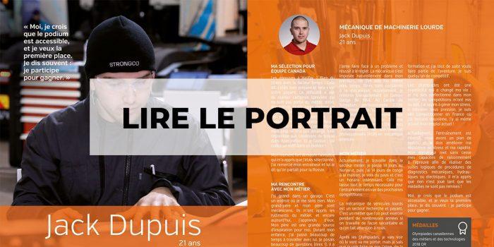 Portrait de champion : Jack Dupuis (Centre de formation en mécanique de véhicules lourds) : lire le portrait