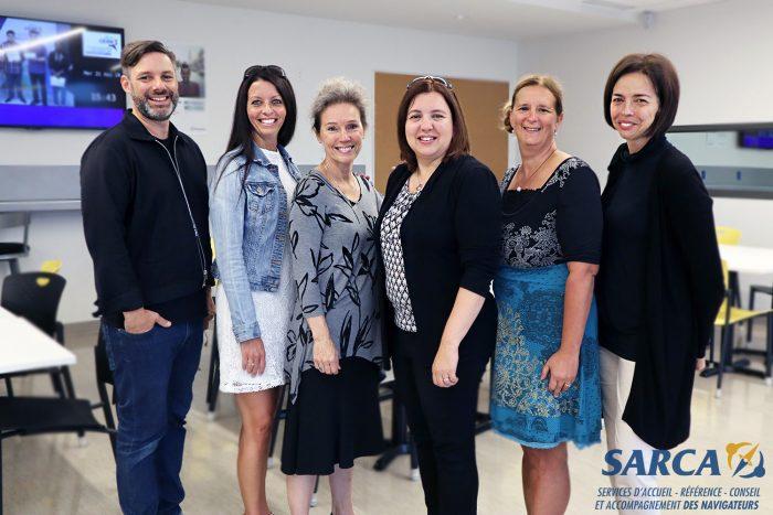 Présentation de l'équipe des SARCA : les Services d'accueil, de référence, de conseil et d'accompagnement.