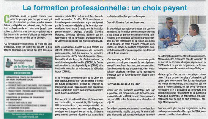 La formation professionnelle des Navigateurs : un choix payant ! - Petite