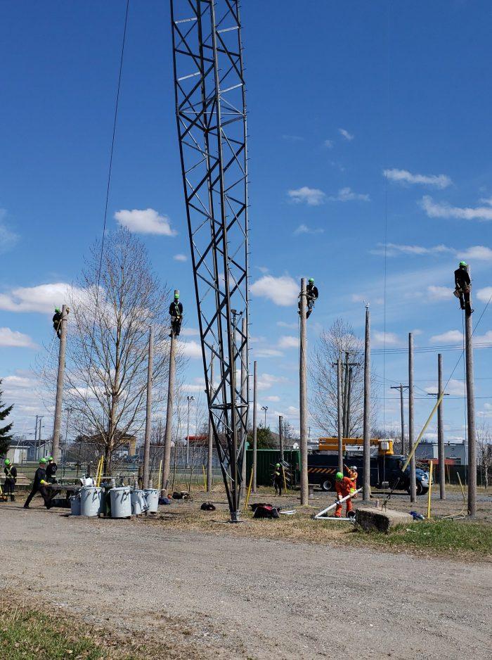 Reprise des cours au Centre de formation de montage de lignes - DEP Montage de lignes électriques